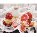 Утренний натюрморт Раскраска картина по номерам на холсте GX30655