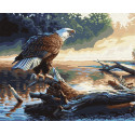 Орел на дереве Раскраска картина по номерам на холсте GX6736