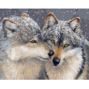 Волчья любовь Раскраска картина по номерам на холсте GX27710