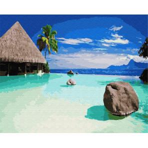 Пляж в Доминикане Раскраска картина по номерам на холсте GX26424