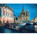 Храм Спаса на крови. Санкт-Петербург Раскраска картина по номерам на холсте GX29377