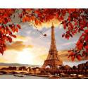 Мой Париж Раскраска картина по номерам на холсте GX27354
