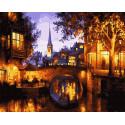 Красота вечернего города Раскраска картина по номерам на холсте GX30654