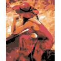 Страстная девушка Раскраска картина по номерам на холсте GX8929