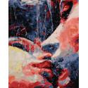 Робкий поцелуй Раскраска картина по номерам на холсте GX28444
