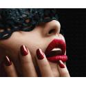 Красные губы Раскраска картина по номерам на холсте GX32934