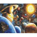 Солнечная система Раскраска картина по номерам на холсте GX22389