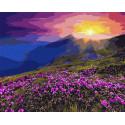 Рассвет солнца Раскраска картина по номерам на холсте GX3217