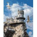 Ласточкино гнездо Раскраска картина по номерам на холсте GX27419