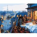 Парижский балкончик Раскраска картина по номерам на холсте GX7255