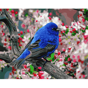 Птица в саду Раскраска картина по номерам на холсте GX23193