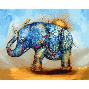 Слон в абстракции Раскраска картина по номерам на холсте GX29890