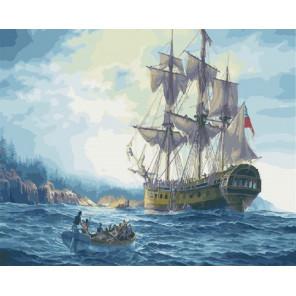 Британский корабль Раскраска картина по номерам на холсте GX25207