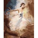 Балерина в танце Раскраска картина по номерам на холсте GX8439