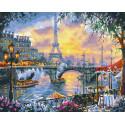 Вечерний Париж Раскраска картина по номерам на холсте GX27372