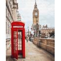 Визитка Лондона Раскраска картина по номерам на холсте GX26716