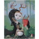 Лесные друзья в масках Раскраска картина по номерам на холсте