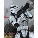 Штурмовик с оружием Раскраска картина по номерам на холсте