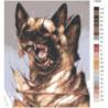 Овчарка 3D 100х125 Раскраска картина по номерам на холсте