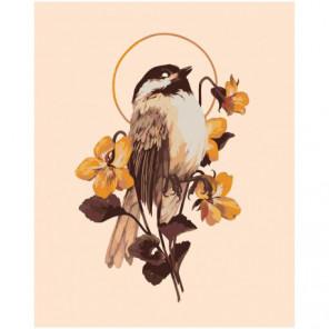 Цветок и птица 100х125 Раскраска картина по номерам на холсте