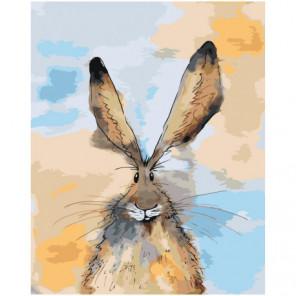 Ушастый заяц 100х125 Раскраска картина по номерам на холсте