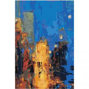 Абстракция девушка с зонтом Раскраска картина по номерам на холсте