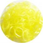 Желтые блестящие однотонные 300шт Резиночки для плетения
