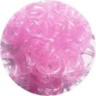 Розовые блестящие однотонные 300шт Резиночки для плетения