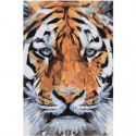 Морда тигра геометрика Раскраска картина по номерам на холсте