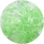 Салатовые блестящие однотонные 300шт Резиночки для плетения