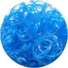 Синие блестящие однотонные 300шт Резиночки для плетения