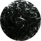 Черные блестящие однотонные 300шт Резиночки для плетения
