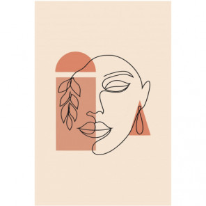 Лицо женщины абстракция Раскраска картина по номерам на холсте