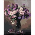 Сирень в вазе Раскраска картина по номерам на холсте