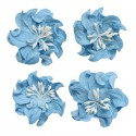 Небесно-голубые Цветы кудрявой фиалки для скрапбукинга, кардмейкинга Scrapberry's