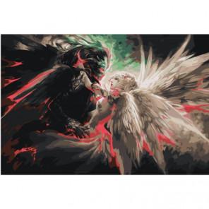 Ангел и демон 100х150 Раскраска картина по номерам на холсте