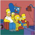 Семейка Симпсонов Раскраска картина по номерам на холсте