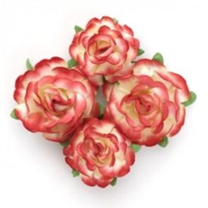 Красно-желтые Цветы чайной розы Scrapberry's