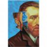 Винсент Ван Гог и Звёздная ночь 80х120 Раскраска картина по номерам на холсте