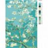 Ветка миндаля, Винсент Ван Гог 100х150 Раскраска картина по номерам на холсте