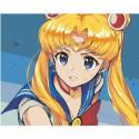 Сейлор Мун Sailor Moon Anime Раскраска картина по номерам на холсте