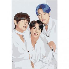 Джин Чонгук BTS KPop 100х150 Раскраска картина по номерам на холсте