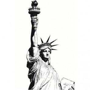 Статуя Свободы, Нью-Йорк, США 80х120 Раскраска картина по номерам на холсте