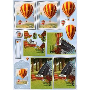 Воздушный шар Набор высеченных элементов для 3D декупажа Docrafts