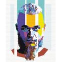 Рагнар арт Раскраска картина по номерам на холсте с неоновыми красками AAAA-RS103
