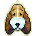 Собака Бадди Алмазная мозаика подвеска Гранни Wood W0105