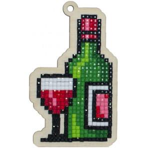 Вино Алмазная мозаика подвеска Гранни Wood W0164