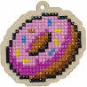 Пончик Алмазная мозаика подвеска Гранни Wood W0183