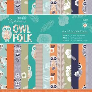 Owl Folk 15х15см Набор бумаги для скрапбукинга, кардмейкинга Docrafts