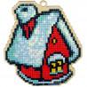 Зимний домик Алмазная мозаика подвеска Гранни Wood W0116